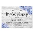 Blue Hydrangea Rustic Wedding Bridal Shower Card
