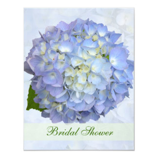 Blue Hydrangea Small Bridal Shower Invitation