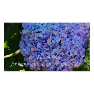 Blue Hydrangea Thank you Gift Tag Pack Of Standard Business Cards