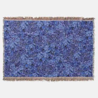 Blue Hydrangea Throw