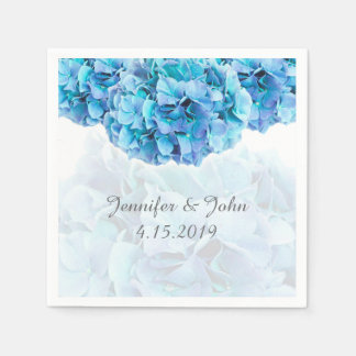 Blue Hydrangea Wedding Collection Napkins Paper Napkin