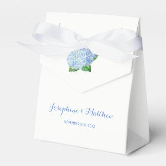 Blue Hydrangea Wedding Favor Box