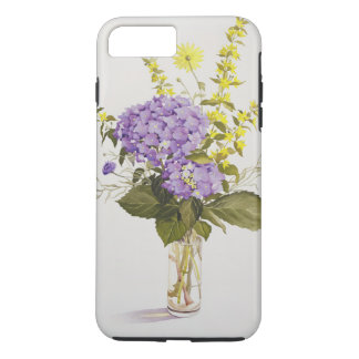 Blue Hydrangea with Yellow Loosestrife iPhone 7 Plus Case