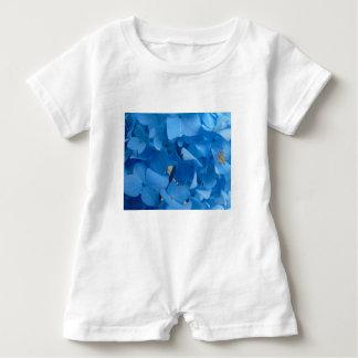Blue Hydrangeas Baby Romper