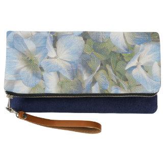 Blue hydrangeas clutch