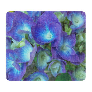 Blue Hydrangeas Floral Cutting Board