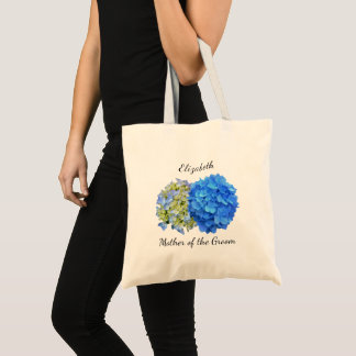 Blue Hydrangeas Mother of the Groom Tote Bag