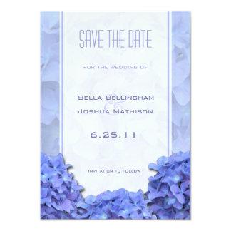 Blue Hydrangeas Save the Date Announcement