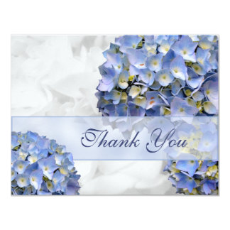 "Blue Hydrangeas Thank You Cards, ""Alpha"" Card"