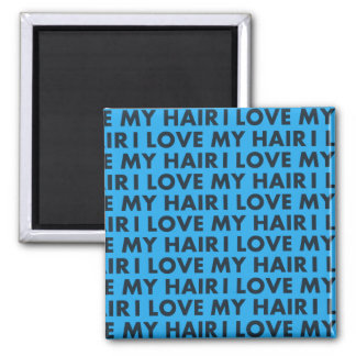 Blue I Love My Hair Bold Text Cutout Magnet