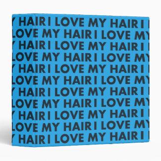 Blue I Love My Hair Bold Text Cutout Vinyl Binder