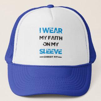 Blue I wear my faith cap