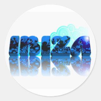 Blue IBIZA 2011 Round Sticker