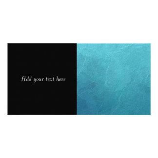 Blue Ice Abstract Artwork Personalized Photo Card