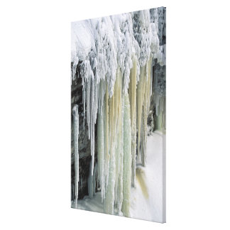 Blue Ice and Ground Water Run Off; Tahquamenon Gallery Wrap Canvas