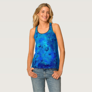 Blue Ice Bubbles Tank Top