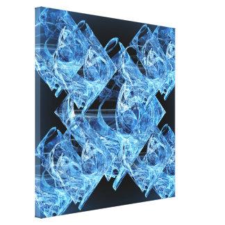 Blue Ice Cubes Canvas Print