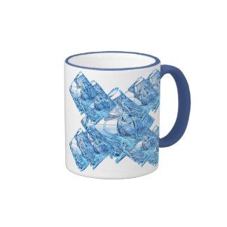 Blue Ice Cubes Coffee Mug
