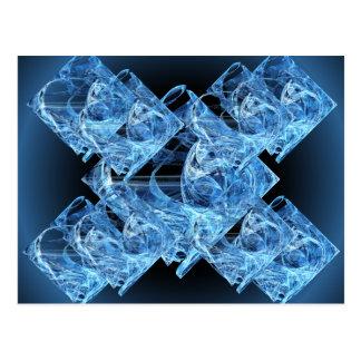 Blue Ice Cubes Postcard