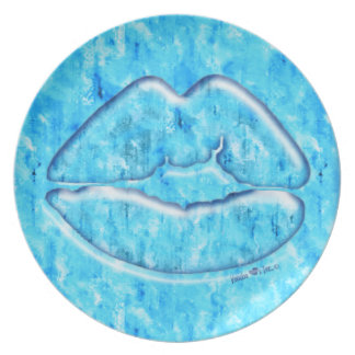 Blue Ice Kiss Dinner Plate