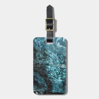 Blue ice of an ice cave, Iceland Bag Tag