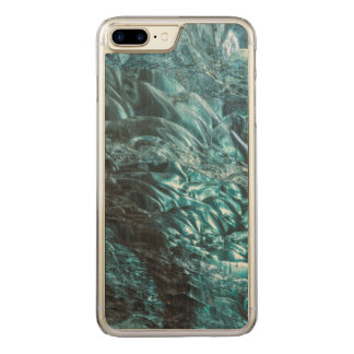 Blue ice of an ice cave, Iceland Carved iPhone 7 Plus Case