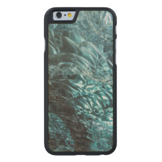 Blue ice of an ice cave, Iceland Carved Maple iPhone 6 Case