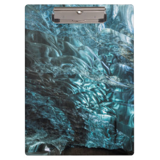 Blue ice of an ice cave, Iceland Clipboard