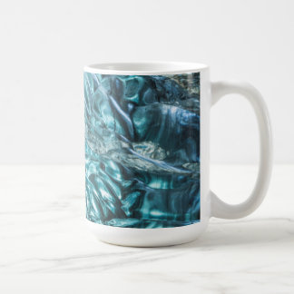 Blue ice of an ice cave, Iceland Coffee Mug