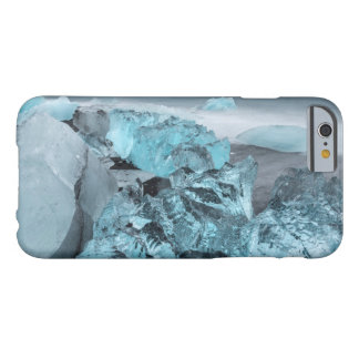 Blue ice on beach seascape, Iceland Barely There iPhone 6 Case