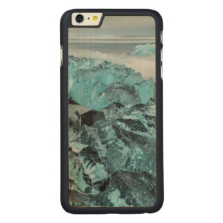 Blue ice on beach seascape, Iceland Carved® Maple iPhone 6 Plus Case
