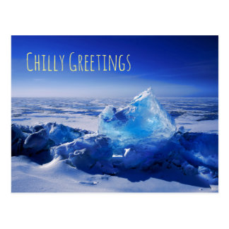 Blue Ice Postcard