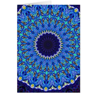 Blue Ice Spirals Card