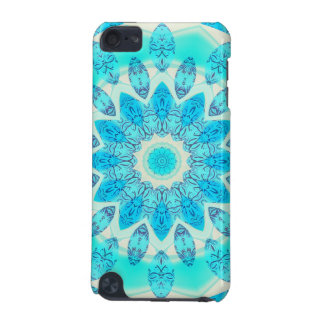 Blue Ice Star, Abstract Aqua Turquoise Mandala iPod Touch 5G Cases