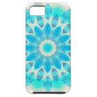 Blue Ice Star Mandala, Abstract Aqua Joyful Light iPhone 5 Cover