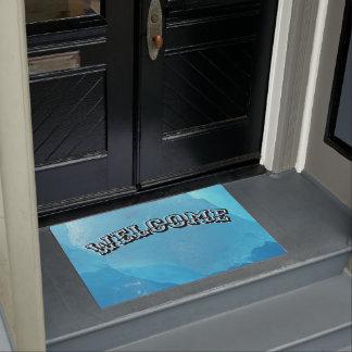 Blue Ice Welcome Doormat