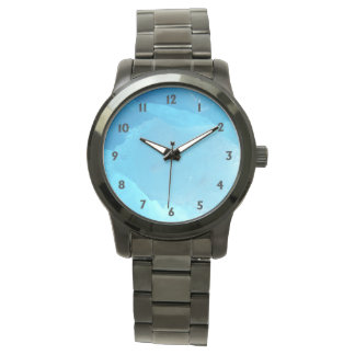 Blue Ice with Black Numbers Wristwatches