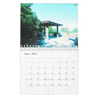 Blue image Calendar 2017