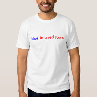 blue, in a red state t-shirt