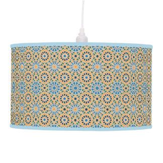 Blue In Bloom Pattern Pendant Lamp