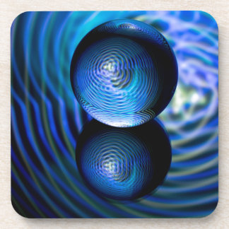Blue in the crystal ball coaster