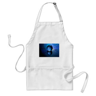 Blue in the crystal ball standard apron
