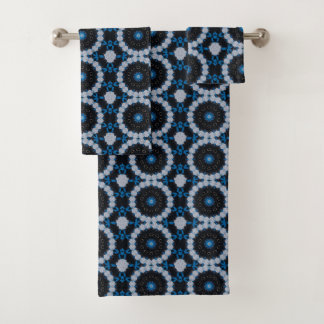 Blue in the morning and night bath towel set