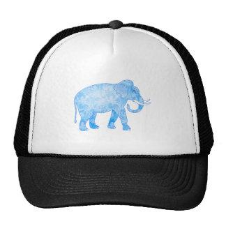 Blue Indian Elephant with Fancy Pattern Hats