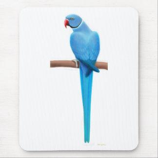 Blue Indian Ringneck Parrakeet Mousepad