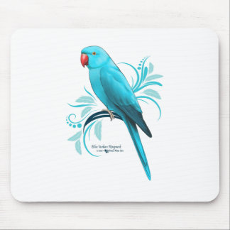 Blue Indian Ringneck Parrot Mouse Pad