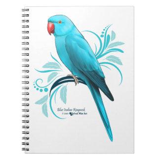 Blue Indian Ringneck Parrot Notebook