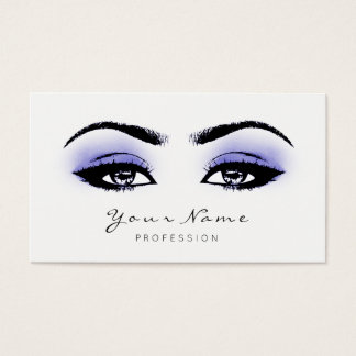 Blue Indigo Makeup Lashes Extension Black White Business Card