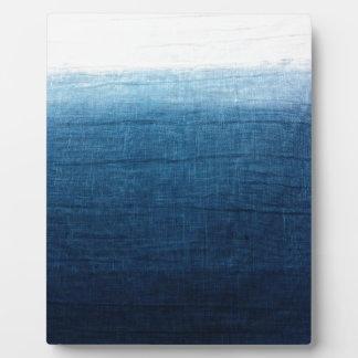 Blue Indigo Ombre Fade. Japanese Art! Plaque