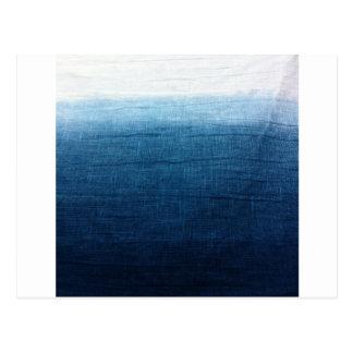 Blue Indigo Ombre Fade. Japanese Art! Postcard